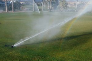 sprinkler system golf course