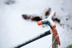 irrigation system in snow